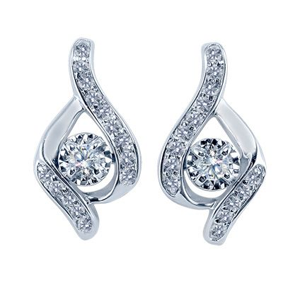 1/3 CT. T.W. Sirena™ Illusion Drop Earrings in 14K White Gold