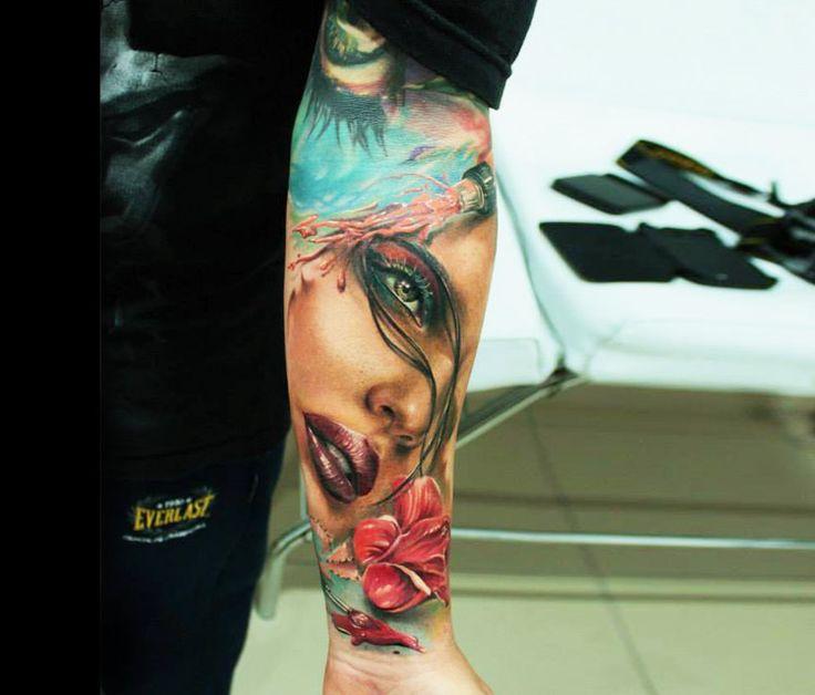 17 Best Ideas About Woman Face Tattoo On Pinterest
