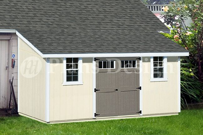 10 x 16 lean to shed from lean to storage for Livable shed plans