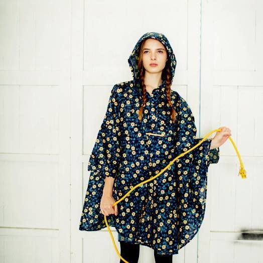 big waterproof poncho coat flowers - Google Search