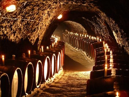 Traditional wine cellar in Tokaj.