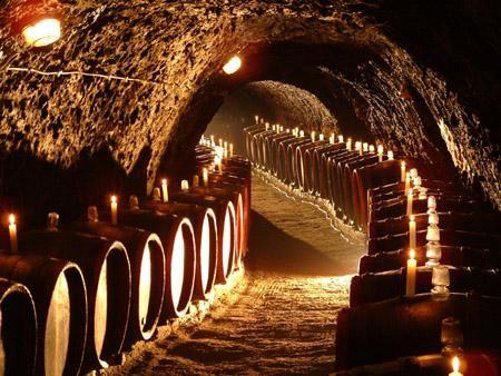 Traditional wine cellar in Tokaj.