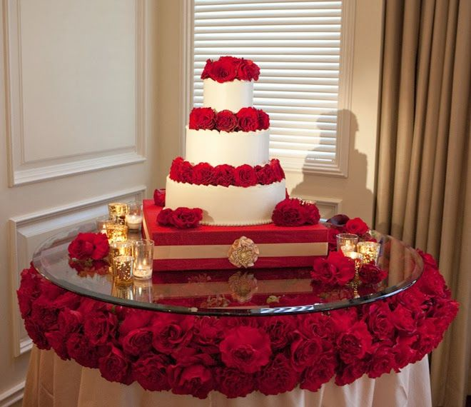 Fabulous Wedding Cake Table Ideas Using Flowers