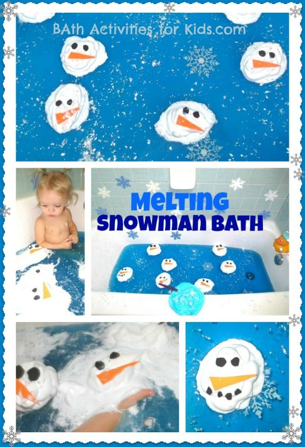 Melting Snowman Bath for Kids- super sensory play & Winter FUN!