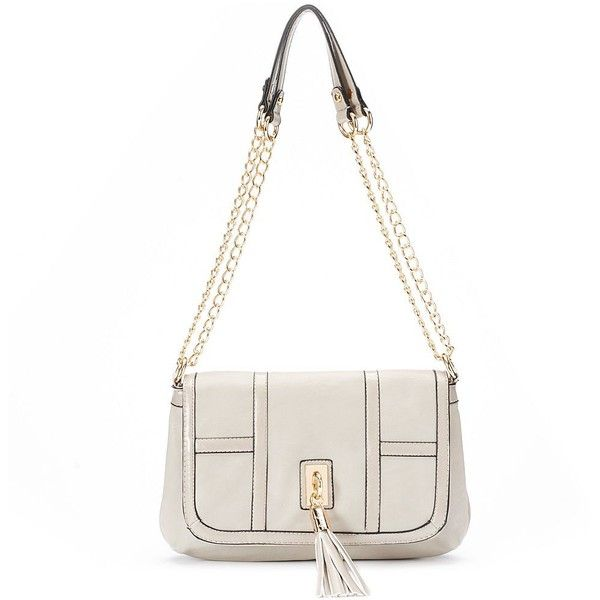 Mellow World Carrie Tassel Crossbody Bag ($48) ❤ liked on Polyvore featuring bags, handbags, shoulder bags, grey, man bag, crossbody purses, grey purse, grey shoulder bag and crossbody handbags