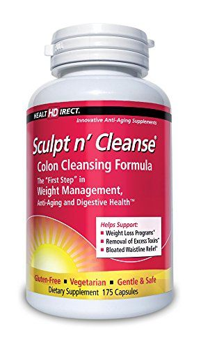 Sculpt n Cleanse Colon Cleansing Supplement (450 mg 175 Veggie Capsules) from Health Direct
