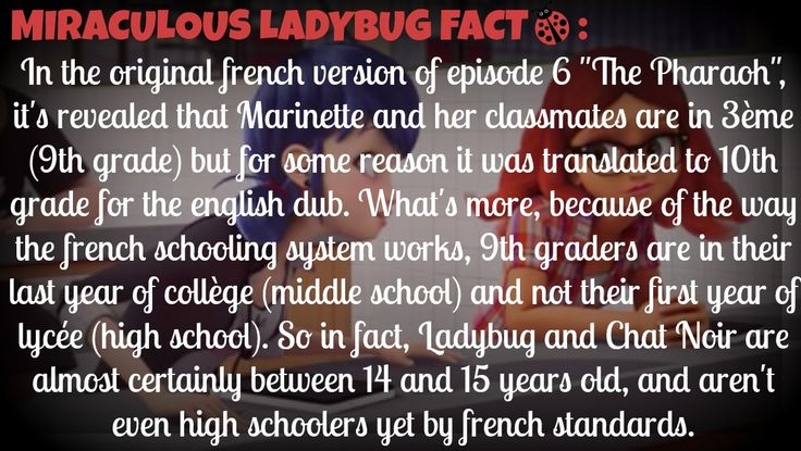 How old are Ladybug/Marinette and Adrien/Chat Noir ? -MIRACULOUS LADYBUG FACT