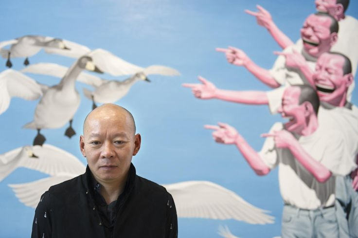 7. Yue Minjun (b. 1962) is the Beijing, China based artist.