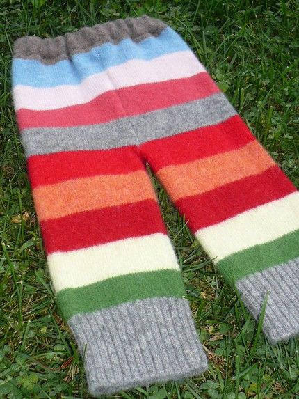 Snuggle Pants made from reclaimed snaggy, baggy sweaters