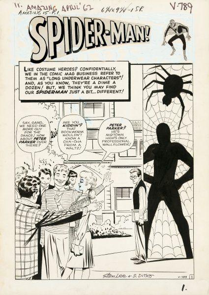 Nationales Kulturgut:  Spider-Man Peter Parker ist eine gespaltene Persönlichkeit. Einerseits ein Held mit phänomenalen Kräften, andererseits ein gemobbter Außenseiter. Für die Amerikaner hingegen ist er mittlerweile ein Kulturgut. 24 perfekt erhaltene Seiten Originalzeichnung des Spinnenmannes erhielt 2008 die Library of Congress in Washington D.C. gespendet.