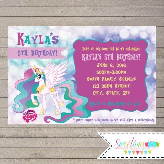 Princess Celestia invitations