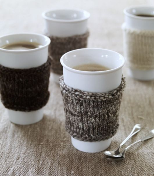 ♥Ideas, Hot Chocolate, Coffe Cups, Hot Drinks, Coffee Cups, Coffe Cozy, Christmas Gift, Knits, Coffee Cozy
