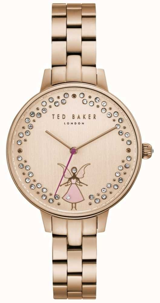 7b5d126e8ec Ted Baker TE50005003 - In stock. A beautiful pink fairy crystal watch with  minimalist hands and markers elegant thin gold tone bracelet.