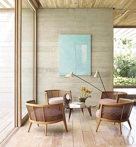 : Isay Weinfeld, Living Rooms, Floors, Chairs, Color, Interiors Architecture, Isayweinfeld, House, Architecture Digest
