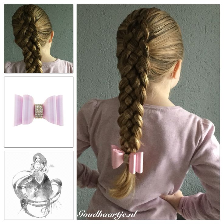 Five strand dutch braid with a elegant bow from Goudhaartje.nl  #fivestrandbraid #5strandbraid #dutchbraid #braid #braids #hair #hairstyle #bow #hairclip #vlecht #vlechten #haaraccessoires #hairaccessories #beautifulhair #longhair #hairinspiration #goudhaartje #haarclip #hairideas #hairstylesforgirls