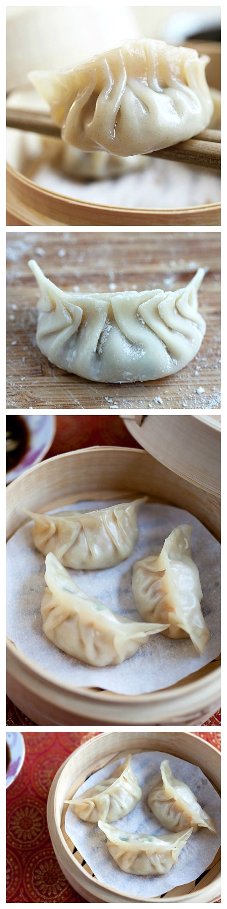 Steamed dumplings Recipe. The freshest, most delicious, and easiest dumplings ever. Much better than the frozen aisle dumplings | http://rasamalaysia.com