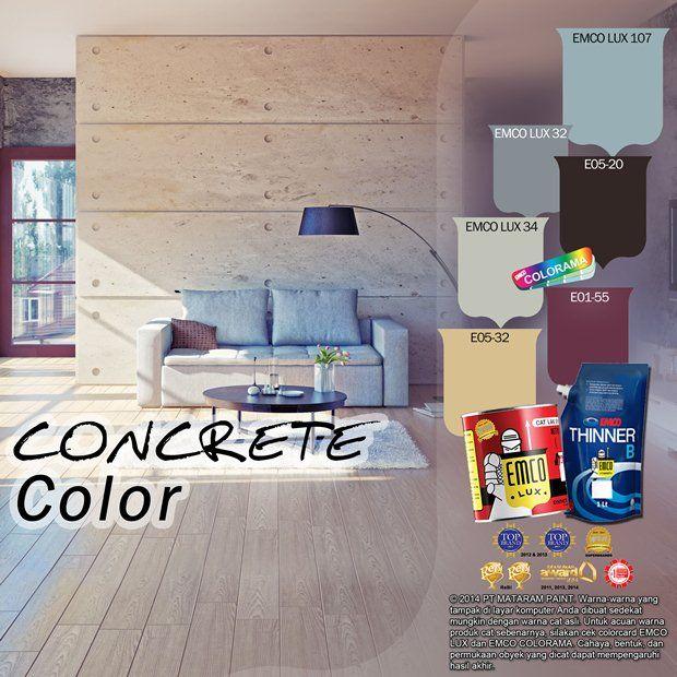 Concrete Color #Inspirasi #Warna #EMCOPaint http://matarampaint.com/detailNews.php?n=311
