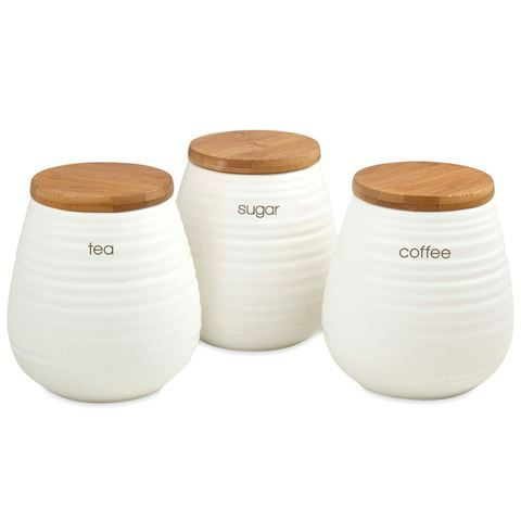 Davis & Waddell - Tea, Coffee and Sugar Canister Set 3pce ...