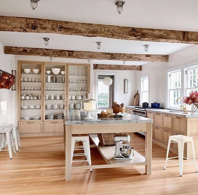 Huge modern kitchen with farmhouse accents