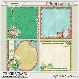 Dye Job Page Starters by Trixie Scraps Designs