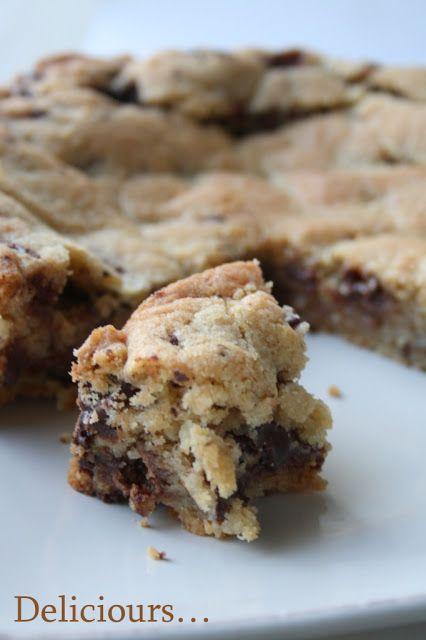 Guillemette  est démoniaque… Ses recettes sont complètement addictives et d'une gourmandise irrésistible…  Ce gâteau comme un cookie géant...