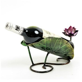 Venda quente Lotus Suportes para Garrafa de Vinho Rack Rack de Vinho Racks de Vinho Rack de Vidro De Vinho