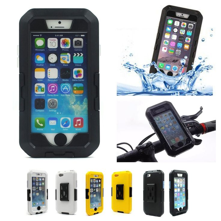"""Dealpeak IPX8 Multifunctional Hybrid Waterproof Case for iPhone 6plus 5.5"""" Great for Swimming/Surfing/Diving/Skiing/Cycling/Running/Climbing/Jogging (iPhone 6plus-Black). IPX8 waterproof standard offers protection from water splashes/light rain showers, dust& dirt. With strong adhesive Velcro armband, Cycling/Running/Climbing/Jogging/Swimming/Surfing/Diving/Skiing Sports Activities. The tough case includes a Polycarbonate hard shell holder with dedicated anti-shock silicon liner & a..."""