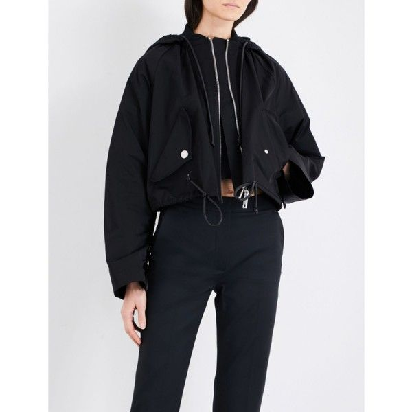 Sportmax Giava short shell parka jacket (24.735 CZK) ❤ liked on Polyvore featuring outerwear, jackets, stand collar jacket, double zipper jacket, long parka jacket, parka jacket and flap jacket
