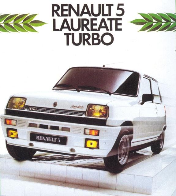Renault 5 Laureate Turbo - brochure