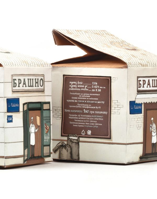 Flour- package design by Silvija Vojnić Rogić