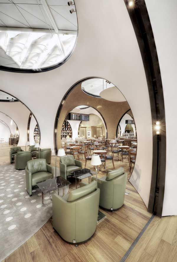 Airport Lounge Arcades Shaping An Intricate Design - By Freshome.com - Interior Design & Architecture Newsletter