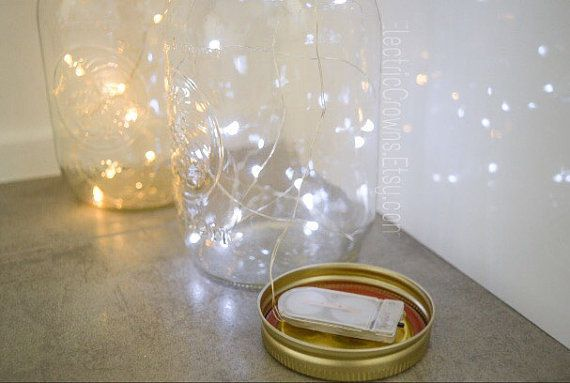 Rustic Wedding Decor Firefly lights for mason by ElectricCrowns