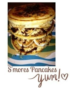 These Ooey-Gooey S'mores pancakes are probably more of a dessert than ...