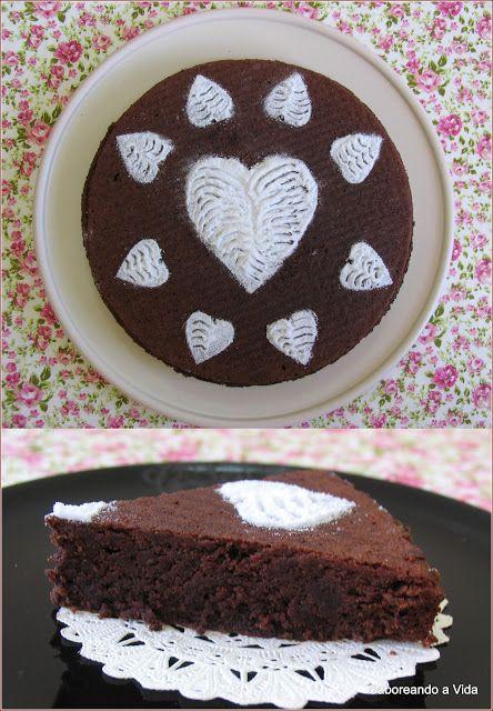 Torta Caprese: Amêndoas   Chocolate