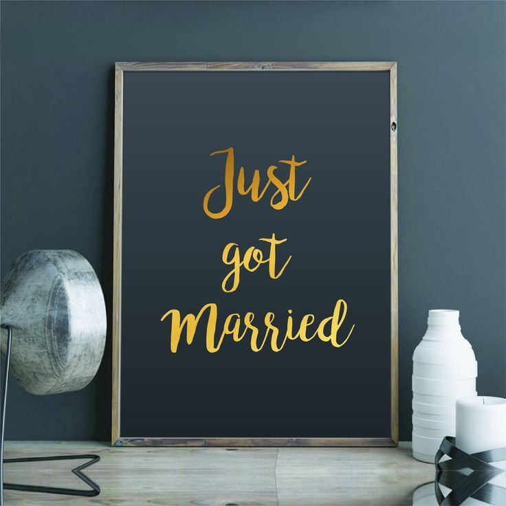 Large Just Married Sign Gold Foil Print Large Wedding Sign Real Foil Decal Wedding Singage DIY Wedding Sticker Big Silver Foil Print by FixateDesigns on Etsy