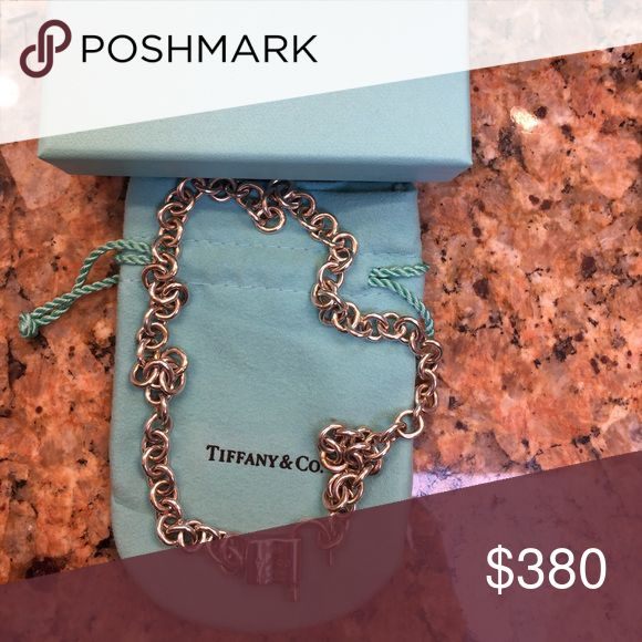 Tiffany Sterling Silver padlock necklace Sterling Silver padlock necklace includes jewelry bag and box. Tiffany & Co. Jewelry Necklaces