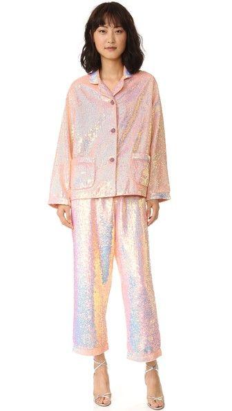 ASHISH Пижамный топ с блестками