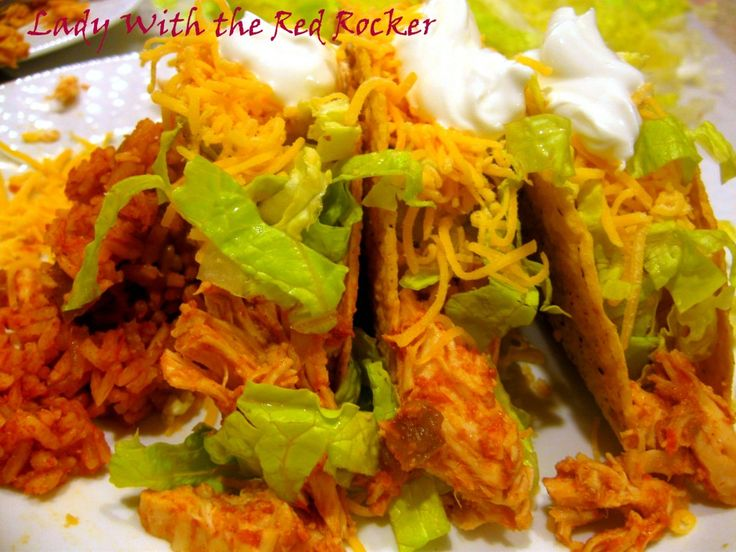 Best-EVER Chicken Tacos (In the CROCKPOT!!!!!)