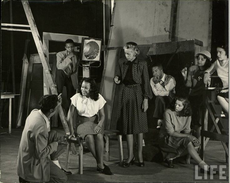 howard university theater students photographed in 1946 by life magazine photographer alfred eisenstaedt
