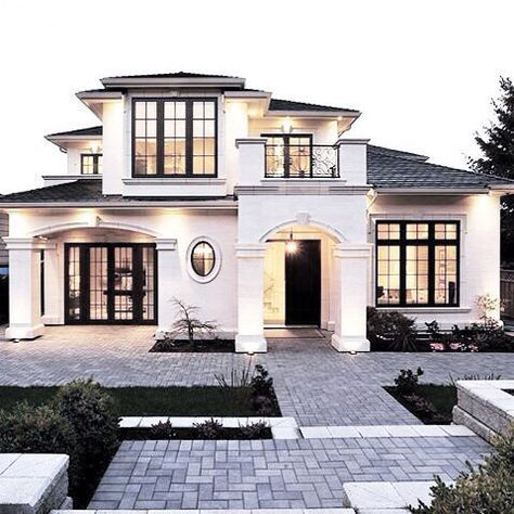 Mediterranean House Designs Exterior mediterranean stone exterior home idea in miami Awesome Stunning Home Exterior White Stucco Mediterranean French Style With Upstairs Danaz Home De