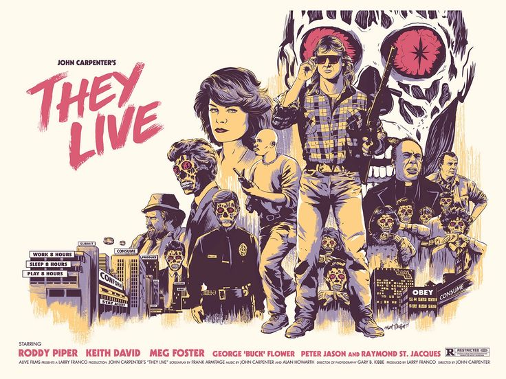 1988 Movie Posters: They Live (1988) [1600 X 1200]