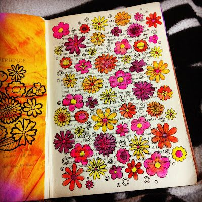 Camp Smartypants: Sketchbook Art like the idea drawing over old books