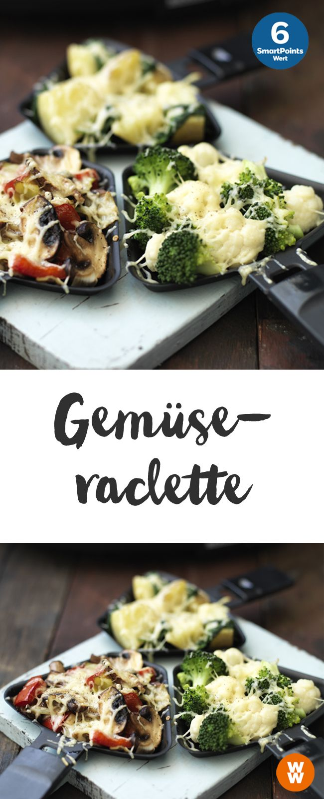 Leckeres Gemüse-Raclette, vegetarisch, 6 SmartPoints pro Portion | Weight Watchers