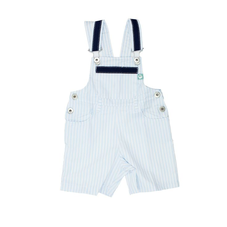 Blue Stripes Dungarees Shorts from Lace & Ribbons #kids #fashion