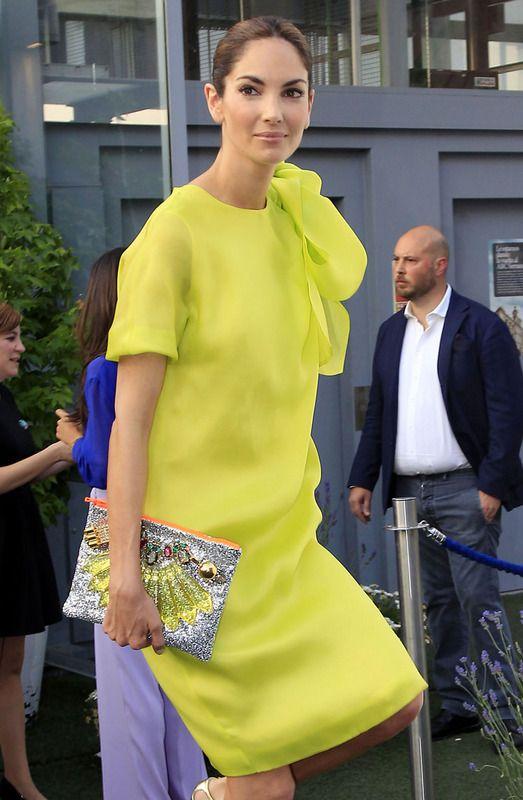 Eugenia Silva perfect in #yellow dress