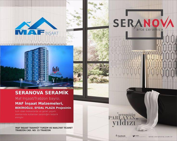 Trabzon bayimiz MAF İnşaat Malzemeleri, Bekiroğlu Efdal Plaza projesinin tüm ıslak mekanlarda ve genel yaşam alanlarında kullanılan seramiği tedarik etmiştir. Bayimizi bu başarısından dolayı kutlar, hayırlı işler dileriz.
