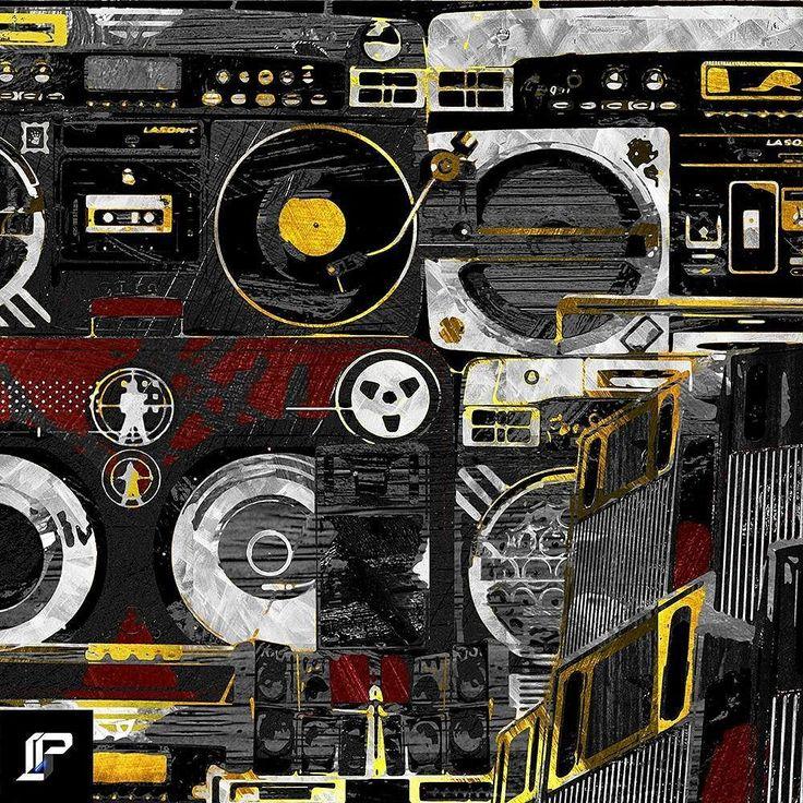 "Title : ""Sonic Force"" [11x 8] (Inspired by @hiphoptrooper @lasonicaudio )  Method: Dry Pixels / Mixed Media (Paint Vector stencil Collage :Texture [watercolor oilpainting acrylic aerosol spraypaint charcoal stainless steel canvas ]) Tools: Adobe Photoshop Illustrator CS6  LPǼ38  #LPAE38 #speakers #instaart #visualart #artnerd #beatsbydre #808 #music #walkman #beats #soundcloud #streetart #serato #instagraffiti  #bgirl #scifi #hiphoptrooper  #hiphophead #bboy #hiphopart #comiccon sithhop…"