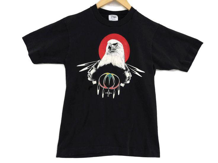 VTG 1986 Native American Eagle T-Shirt - XS Mens Tee - Headdress - Dreamcatcher - 80s Clothing - Tiger 86 - Vintage Tee - Vintage Clothing - by BLACKMAGIKA on Etsy