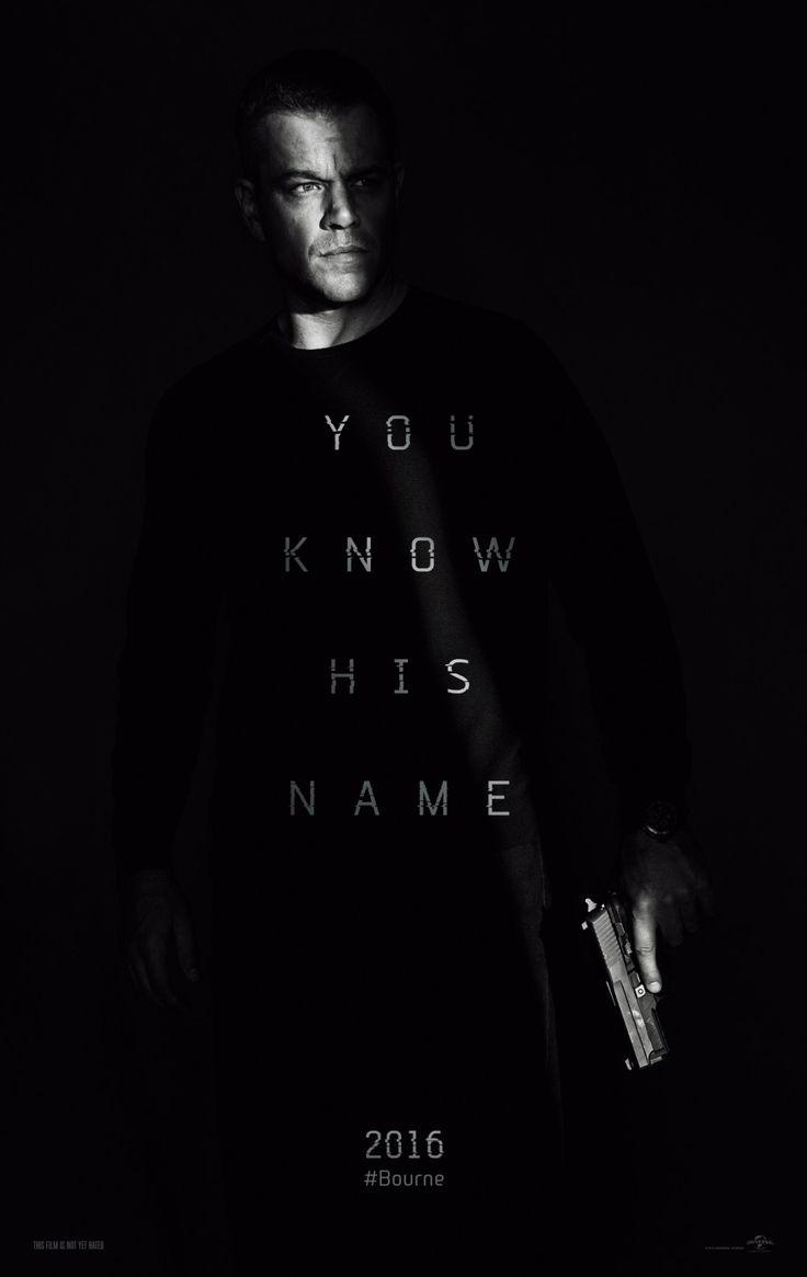 You know his name. First poster for Jason Bourne. #JasonBournce #MattDamon
