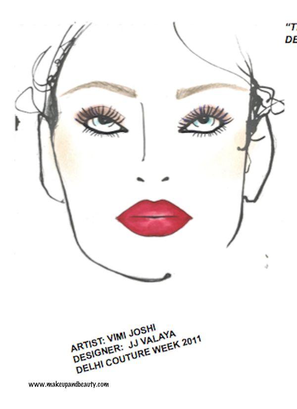 MAC Makeup Face Charts Delhi Couture Week 2011 photo
